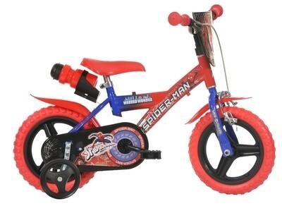 Kinder-Fahrrad Velo Dino 123GL-SA Spiderman 12 Zoll 21 cm Jungen Felgenbremse Blau