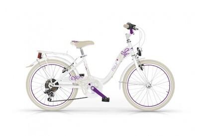 Kinder-Fahrrad Velo MBM Fleur 20 Zoll Mädchen 6G Felgenbremse Weiß