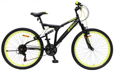 Fahrrad Velo Mountainbike AMIGO Racer 26 Zoll 48 cm Unisex 18G Felgenbremse Schwarz