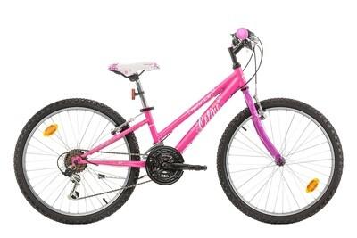 Kinder-Fahrrad Velo Mountainbike Marlin Celine 24 Zoll 28 cm Mädchen 18G Felgenbremse Fuchsia/Violett