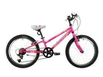 Kinder-Fahrrad Velo Mountainbike Marlin Celine 20 Zoll 24 cm Mädchen 6G Felgenbremse Fuchsia/Violett