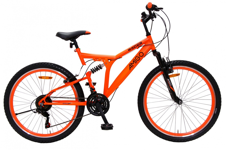 Fahrrad Velo Mountainbike AMIGO Racer 26 Zoll 48 cm Unisex 18G Felgenbremse Orange