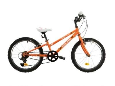 Kinder-Fahrrad Velo Mountainbike Marlin Celine 20 Zoll 24 cm Mädchen 6G Felgenbremse Orange/Weiß