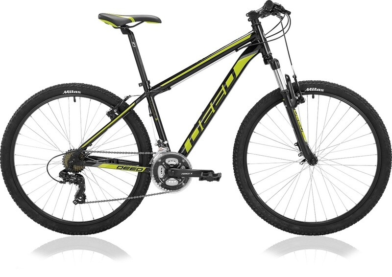 Fahrrad Velo Mountainbike Deed Hoop 27,5 Zoll Herren 21G Felgenbremse Schwarz/Lime