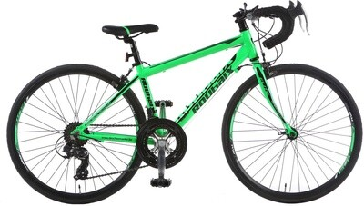 Fahrrad Velo Rennrad Elite Roubaix 24 Zoll 35 cm Jungen 14G Cantilever Grün