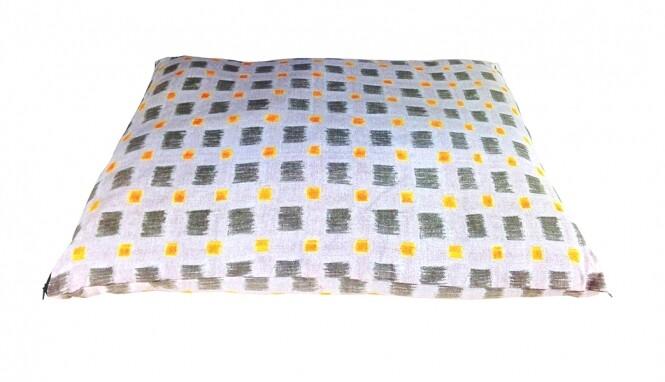 Outlet: CARBONE Hundekissen Sacco, 70 x 100 cm - Quadrate-grau
