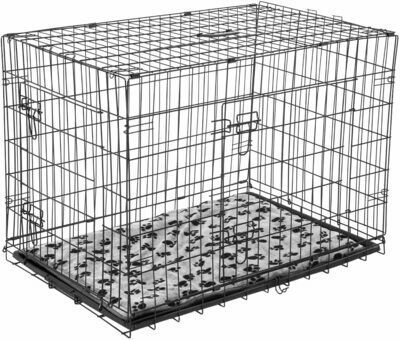 Outlet: Pawhut Hundetransportbox / Box mit Kissen, L, Schwarz