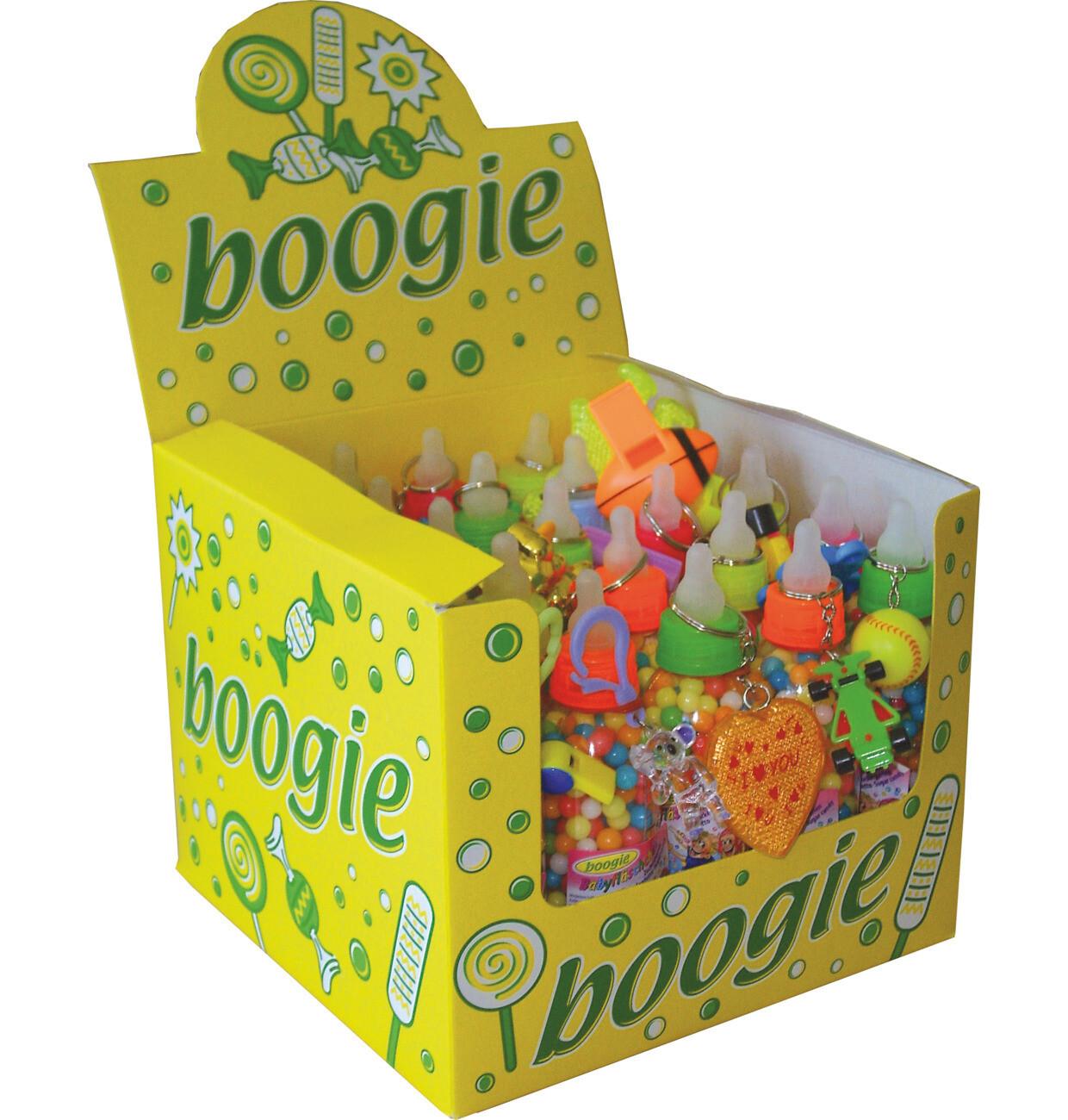 Outlet: Grosspackung Woogie Babyfläschchen mit Zuckerperlen und Spielzeug 25 x 100g