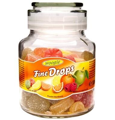 Outlet: Woogie Bonbons im Glas mit Früchtemixgeschmack 300g