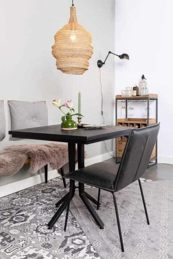 Felis Lifestyle Esstisch Bistro 75 x 77 cm Holz / Stahl schwarz