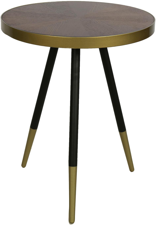 Decostar Beistelltisch ro Foley 44 x 55 cm Holz / Stahl