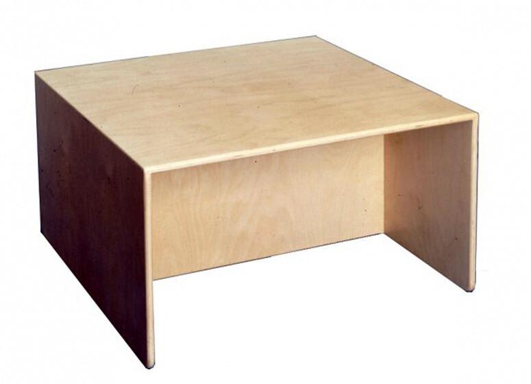 Van Dijk Toys Spieltisch und Bank 64 x 40 cm Naturholz