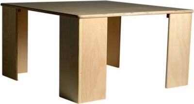 Van Dijk Toys Spieltisch und Bank  75 x 40 cm Holz natur