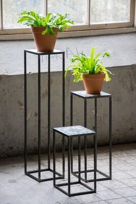 Spinder Design Beistelltisch Ibiza 20 x 20 cm Stahl / Keramik schwarz