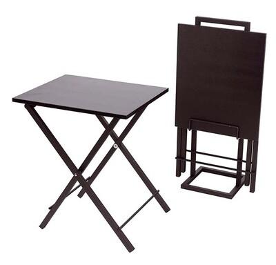 Balvi Beistelltisch Set Lina 51 x 40 cm Metall / Holz schwarz 3-teilig