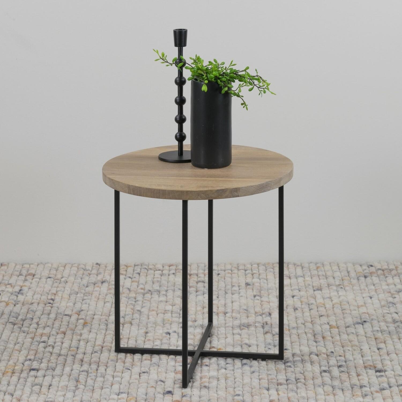 Spinder Design Couchtisch Kleid 39 x 41 cm Holz / Stahl braun
