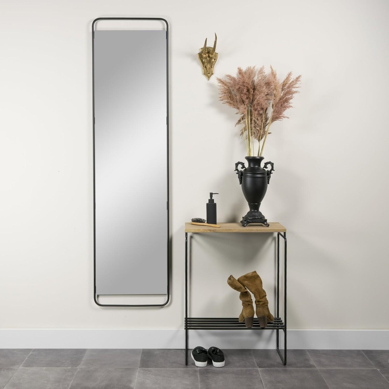 Spinder Design Beistelltisch Clint 57 x 78,5 cm Stahl / Holz schwarz