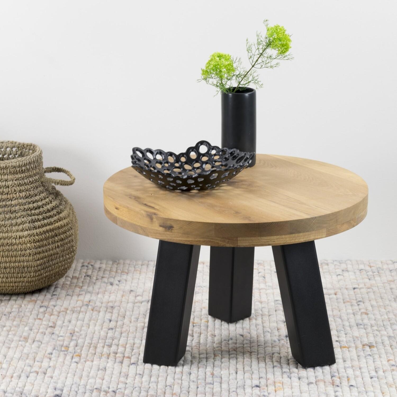 Spinder Design Couchtisch Bono 60 x 40 cm Stahl / Holz schwarz / braun