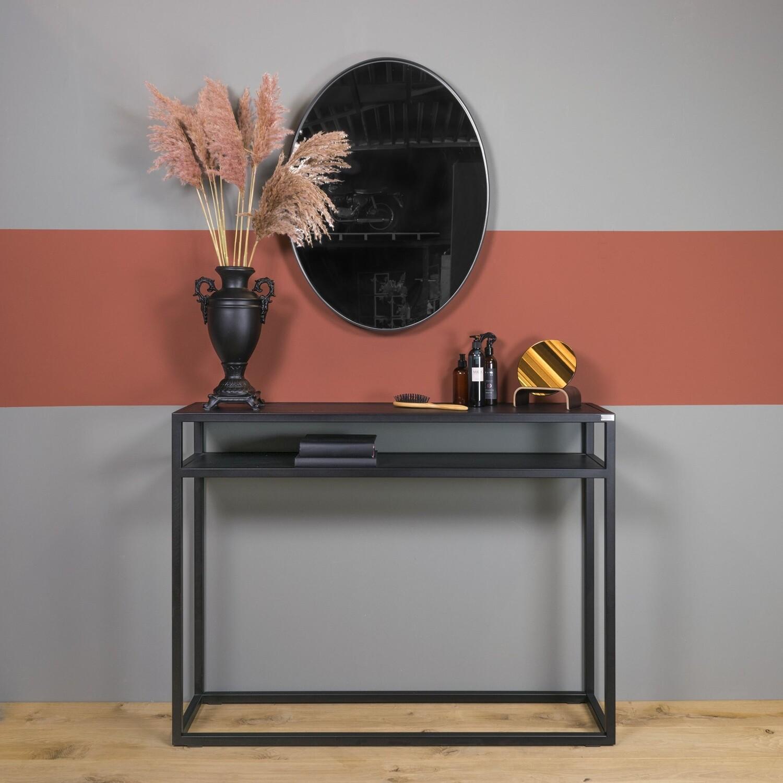 Spinder Design Beistelltisch Daniël 120 x 90 cm Stahl / Holz schwarz