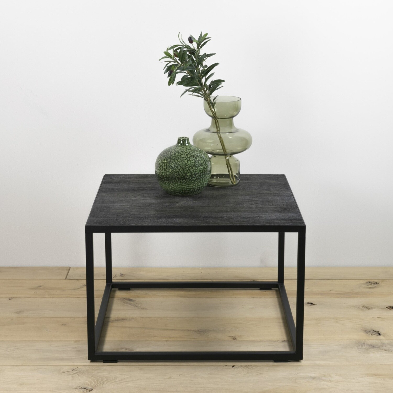 Spinder Design Couchtisch Daniël 60 x 40 cm Stahl / Holz schwarz