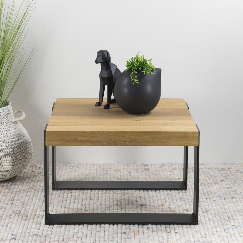 Spinder Design Couchtisch Weekend 60 x 40 cm Stahl / Holz Natur