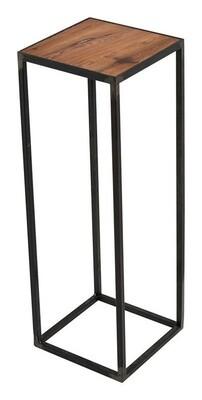 Spinder Design Beistelltisch 20 x 20 x 60 cm Stahl / Holz schwarz / braun