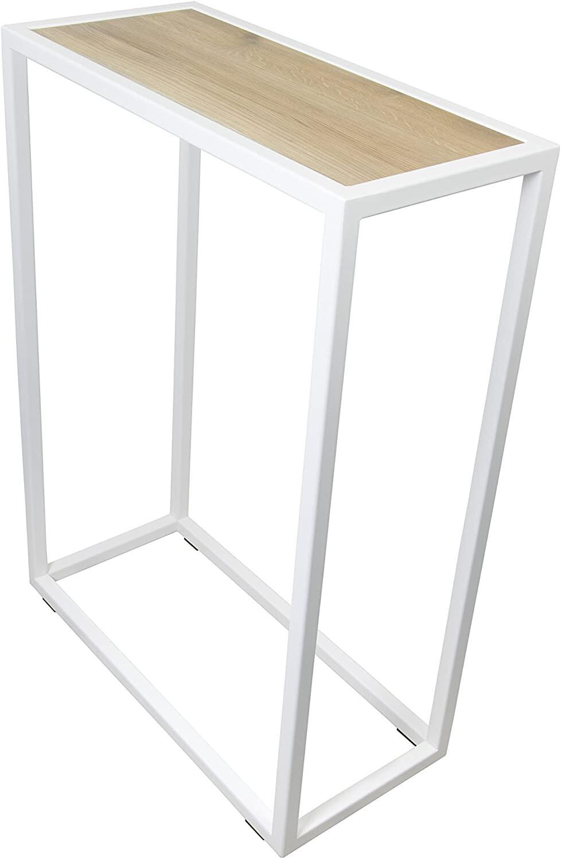 Spinder Design Beistelltisch Diva 60 x 90 cm Eiche / Stahl
