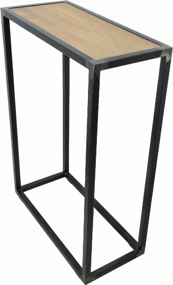 Spinder Design Beistelltisch Diva 60 x 30 cm Eiche / Stahl