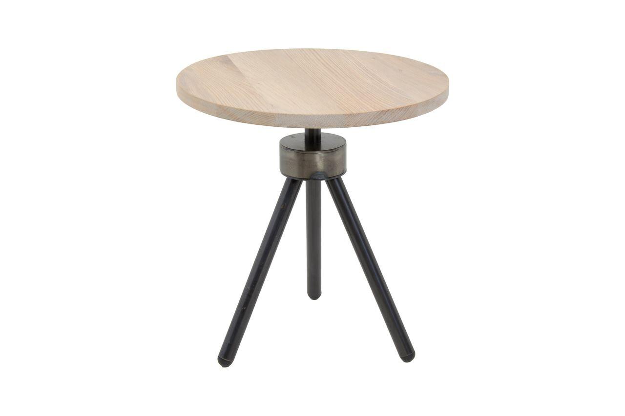 Spinder Design Beistelltisch 40 cm Stahl / Holz braun / schwarz