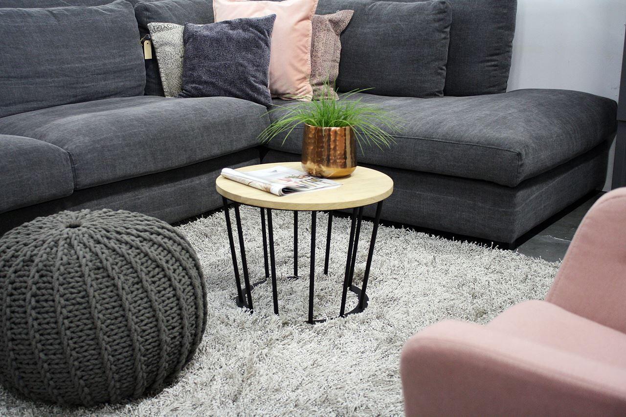 Spinder Design Couchtisch Framer 38 x 50 cm Stahl / Holz schwarz / natur