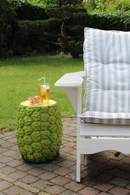 Rotary Hero Beistelltisch Ananas 2-in-1 39 cm Polyresin grün / gelb