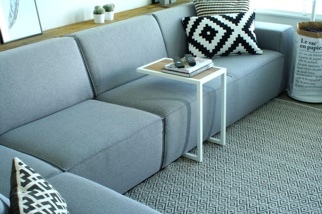 Spinder Design Beistelltisch Divani 54 x 30 cm Stahl weiss / blank