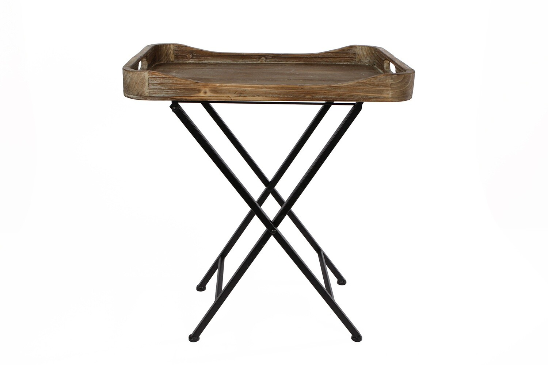 Van Manen Butler Tablett 'Denise' 48x33x56 cm Holz natur / schwarz