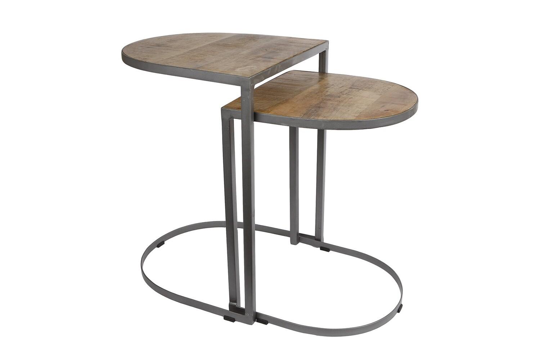 Van Manen Tischset 40x40x55 cm 35x35x45 cm Holz / Metall