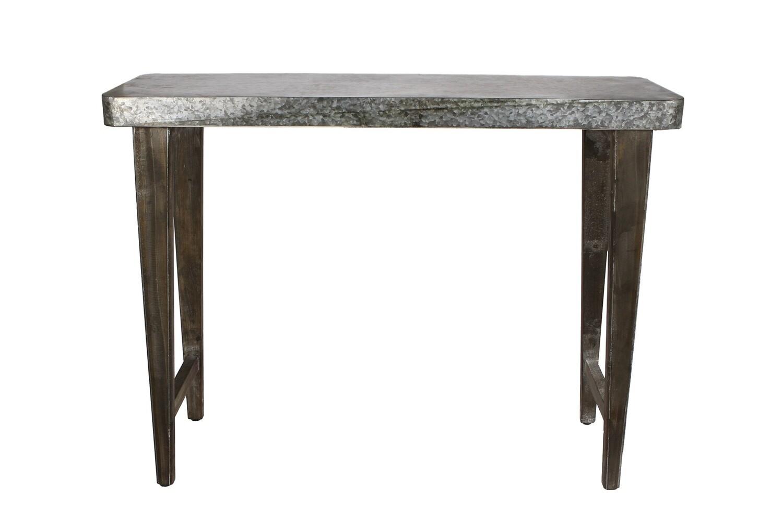 Van Manen rechteckiger Beistelltisch 98x30x75 cm Zink / Holz