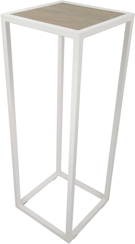 Spinder Design Säule Diva 40 x 110 cm Stahl / Holz weiss / braun