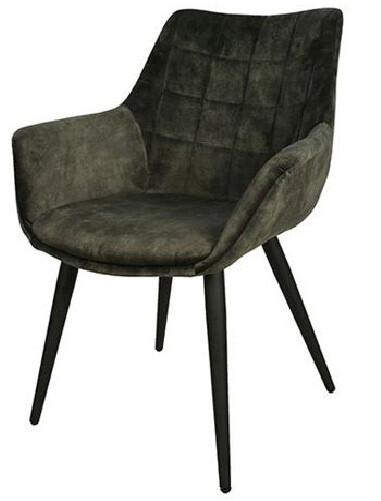 Decostar Stuhl Danbury 65 x 87 cm Textil / Stahl dunkelgrün