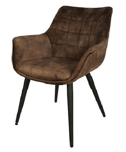 Decostar Stuhl Danbury 65 x 87 cm Textil / Stahl braun / schwarz