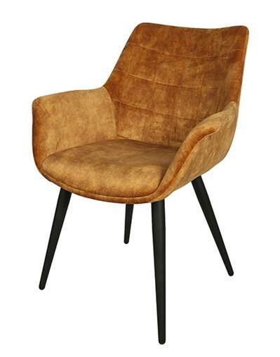 Decostar Stuhl Danbury 65 x 87 cm Textil / Stahl gelb / schwarz