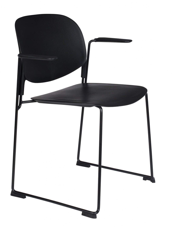 TOM Esszimmerstuhl Stapel 63,5 x 80,5 cm Metall / PP schwarz