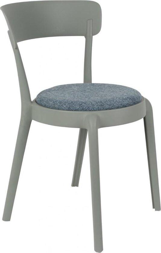 TOM Stuhl Hoppe Comfy 79 x 51 x 49 cm Polyester / Baumwolle grau/blau