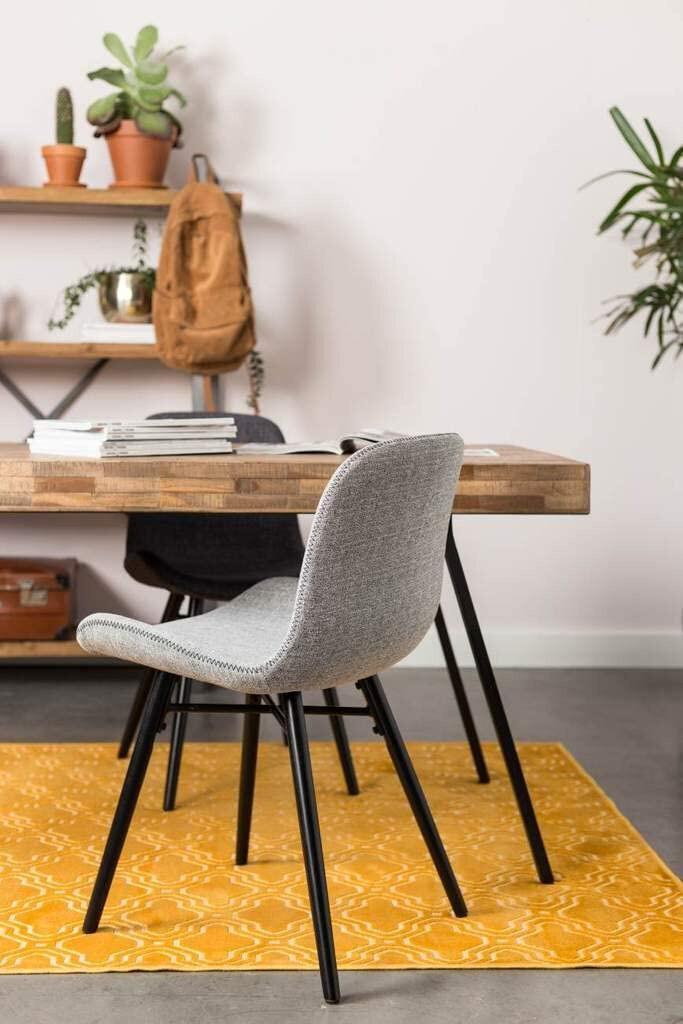 TOM Stuhl Lester 80 x 50 x 55 cm Holz / Polyester grau/schwarz