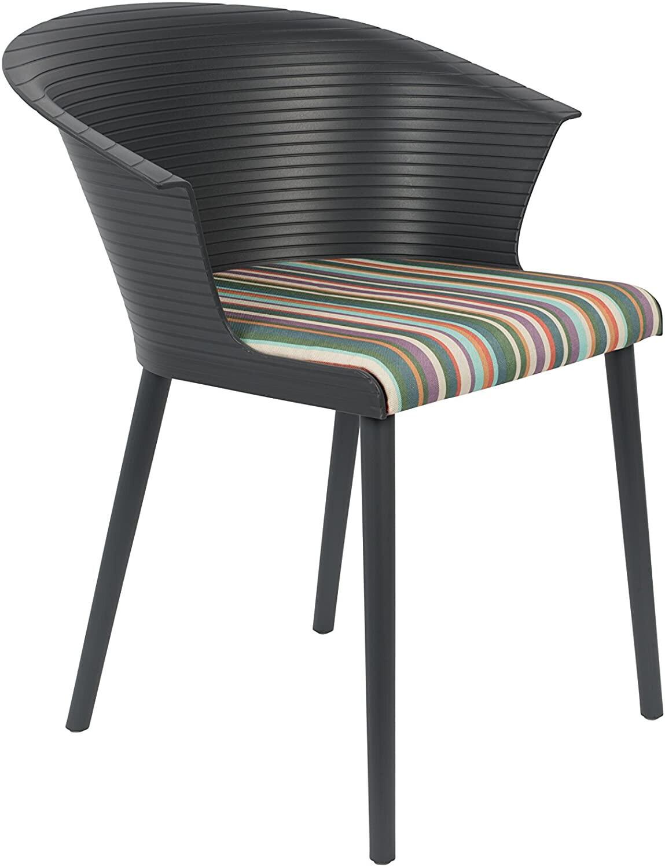TOM Stuhl Olivia 74 cm Polyester / Baumwolle schwarz