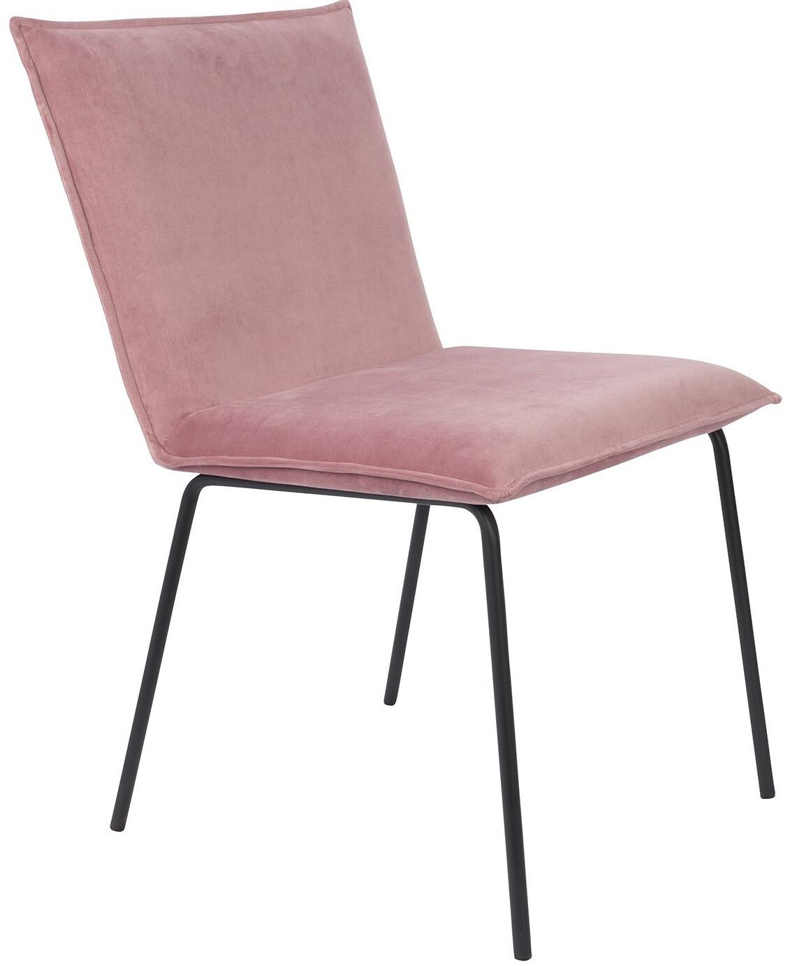 Luzo Esszimmerstuhl Floke 56 x 83 cm Polyester Pink