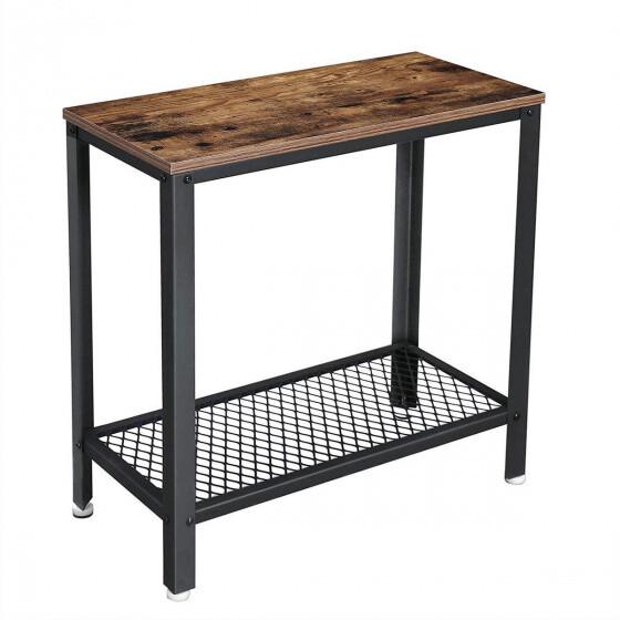 O'Daddy Beistelltisch 60 x 30 x 56 cm Stahl / Holz braun