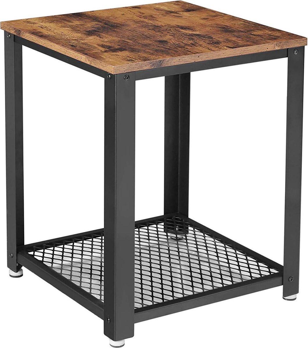 O'Daddy Nachttisch 45 x 45 x 55 cm Stahl / Holz braun