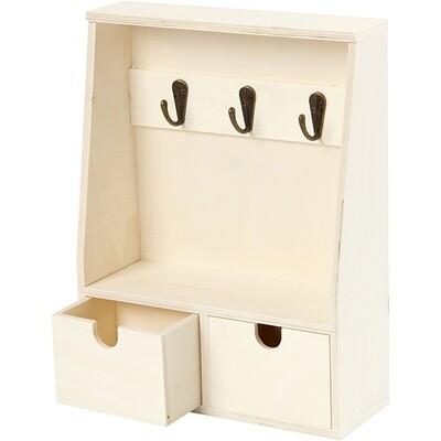 Creotime Schlüsselschrank Holz 28,5 x 22 cm leer