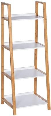 Wenko Regalschrank Gestell Finja 43 x 112 x 36 cm Holz natur/weiss
