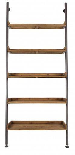Feliz Design Gestell Regal Wally 86 x 200 cm Holz / Stahl klar / dunkelgrau
