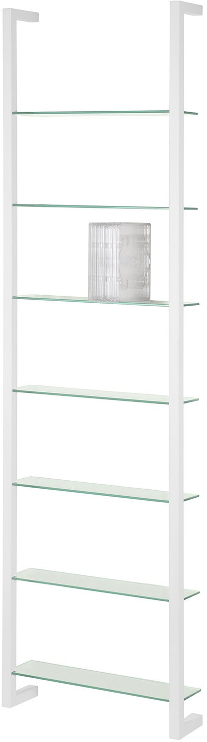 Spinder Design Wandregal Cubic 7 167 x 46 cm Stahl / Glas weiss
